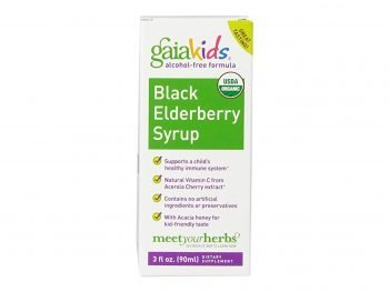 Gaia Herbs Kids Black Elderberry Syrup, 3 Ounce