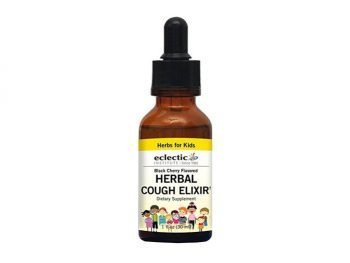 Kids Herbal Cough Elixir - Black Cherry Flavor No Alcohol Eclectic Institute 1 oz Liquid