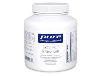 Pure Encapsulations - Ester-C & Flavonoids - Hypoallergenic Vitamin C Supplement Enhanced with Bioflavonoids - 180 Capsules