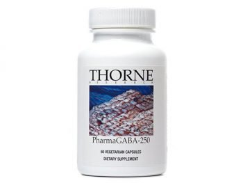 Thorne Research - PharmaGABA-250 - A 250 mg Natural Source GABA (Gamma-Aminobutyric Acid) Supplement - 60 Capsules