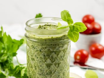 photo of basil parsley pesto