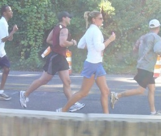 photo of Kimberly running with a group of people