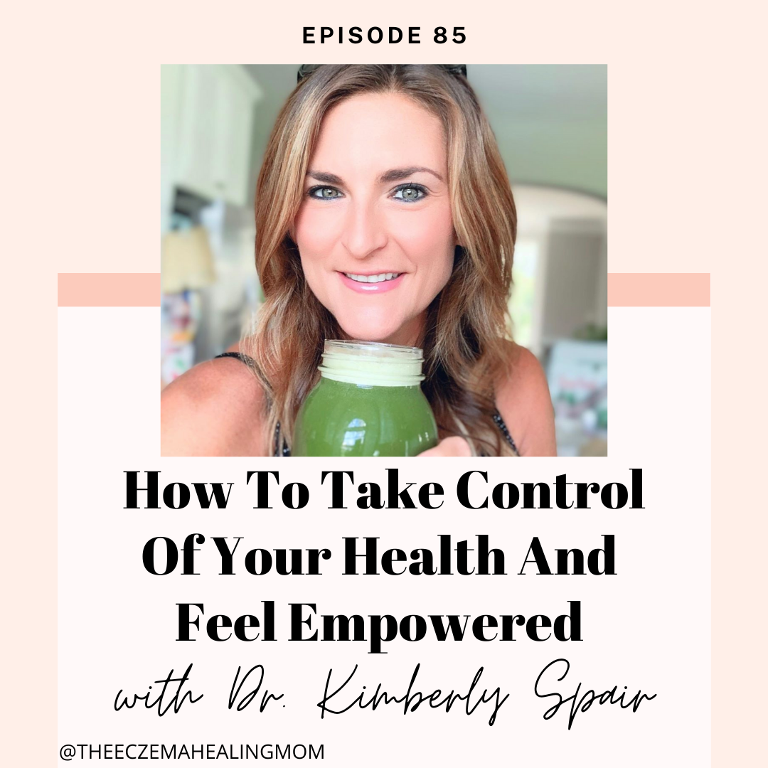 Podcast cover from The Eczema Free Journey featuring Dr. Kimberly Spair