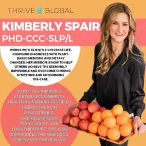 Thrive Global feature image of Dr. Kimberly Spair